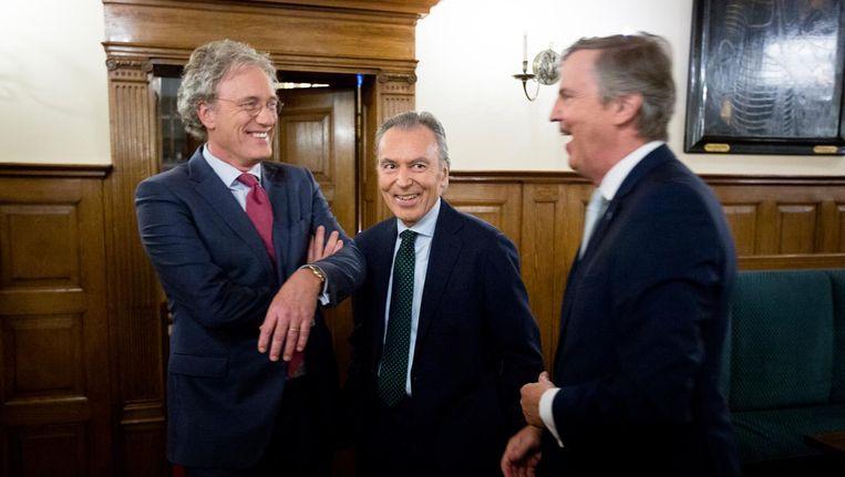 CDA-fractievoorzitter Elco Brinkman, in het midden: 'Fractie heeft een positieve grondhouding.' Beeld anp
