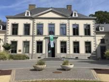 Un drapeau blanc et vert est hissé sur la façade du Château de la Paix à Fleurus