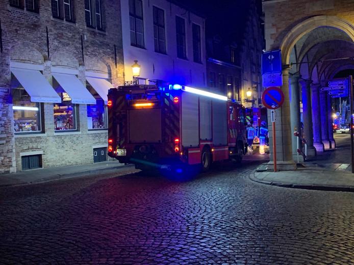 De brandweer rukte uit naar de Eekhoutstraat.