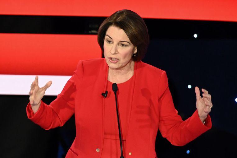 Senator Amy Klobuchar presenteerde zich als het allerredelijkste alternatief. Beeld AFP