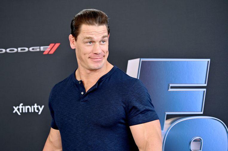 John Cena tijdens een promotie evenement in Florida voor de blockbuster Fast and Furious 9. Beeld Getty Images