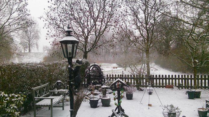 In de tuin van Puk wordt het ook steeds witter.