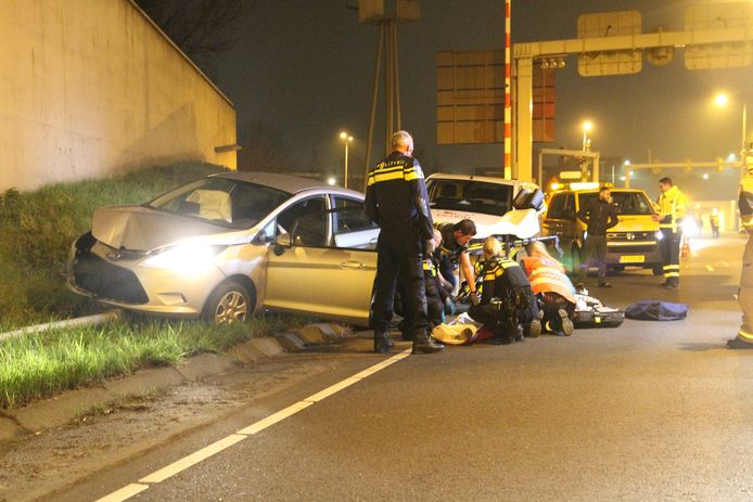 De automobilist raakte bij het ongeval zwaargewond