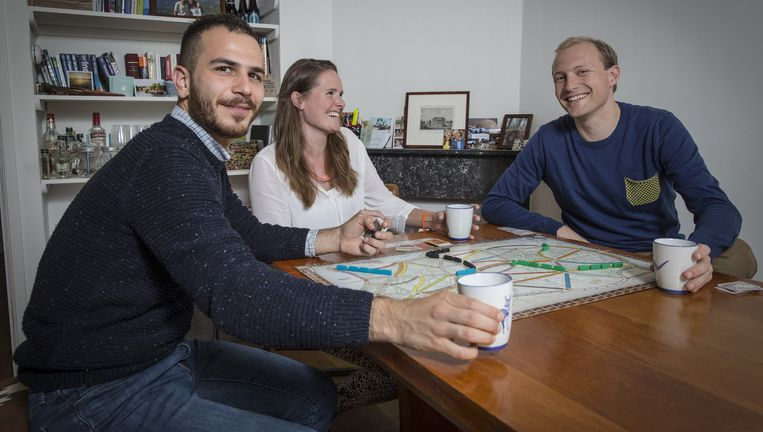 Ashraf Daoud woont bij Anne-Floor Quast en Frank Rijntjes. Beeld Dingena Mol
