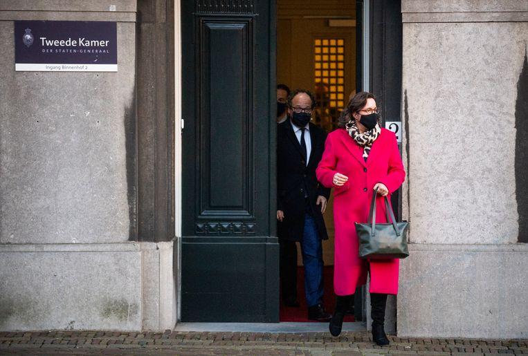 Wouter Koolmees en Tamara van Ark hebben de opdracht verkennende gesprekken te voeren voor een nieuw kabinet aanvaard.  Beeld Freek van den Bergh / de Volkskrant
