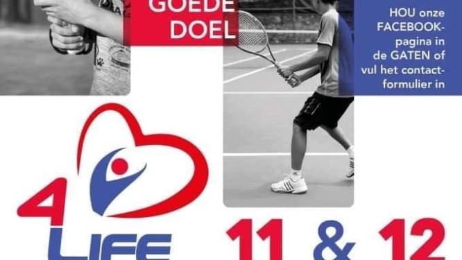 Vriendengroep organiseert padel- en tennisevenement met bekende Vlamingen voor goede doel