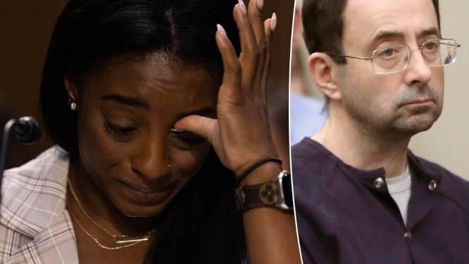 Emotionele turnster Biles getuigt over seksueel misbruik teamarts: 'Niemand beschermde ons'