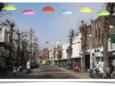 Impressie van hoe de Marktstraat in Uden er vanaf volgende week uit komt te zien.