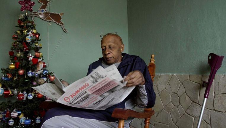 Guillermo Farinas, dissident in Cuba. Beeld ap