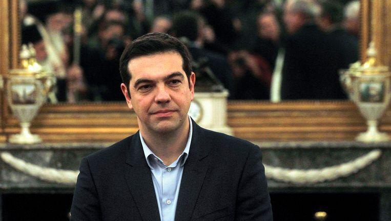 Grieks premier Alexis Tsipras. Beeld EPA