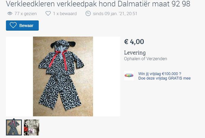 De advertentie van het dalmatiërpak.