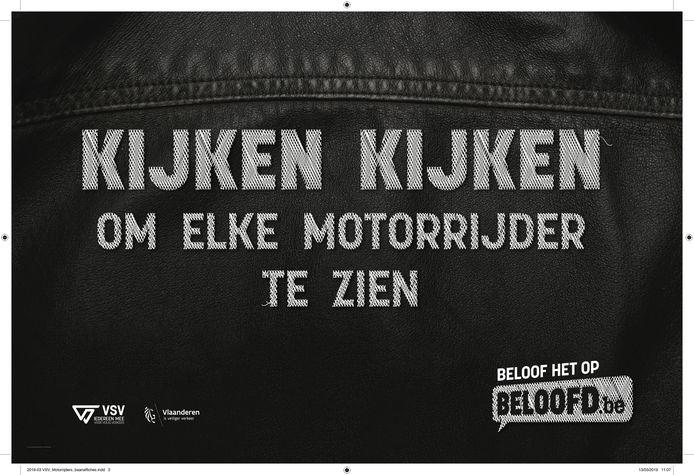 """Campagne motorrijders - """"kijken kijken om elke motorrijder te zien"""""""