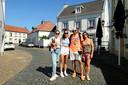 Het Catalaanse gezin Clarabuch, uit de buurt van Barcelona, op vakantie in het Limburgse dorp Thorn.
