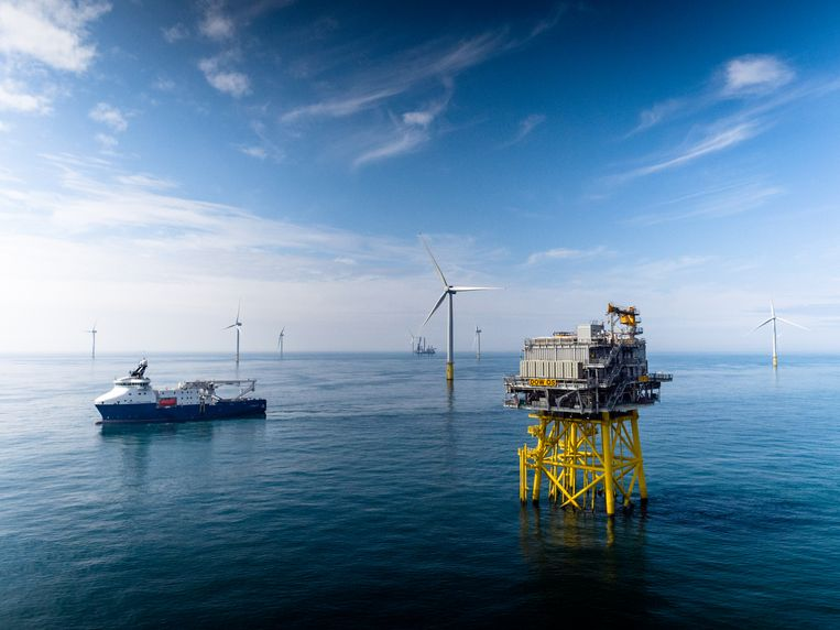 Dudgeon Offshore Wind Farm voor de kust van Norfolk is van het Noorse energiebedrijf Equinor. Beeld Equinor
