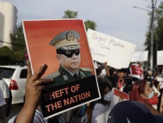 Tienduizenden betogers op straat tegen militaire coup in Myanmar