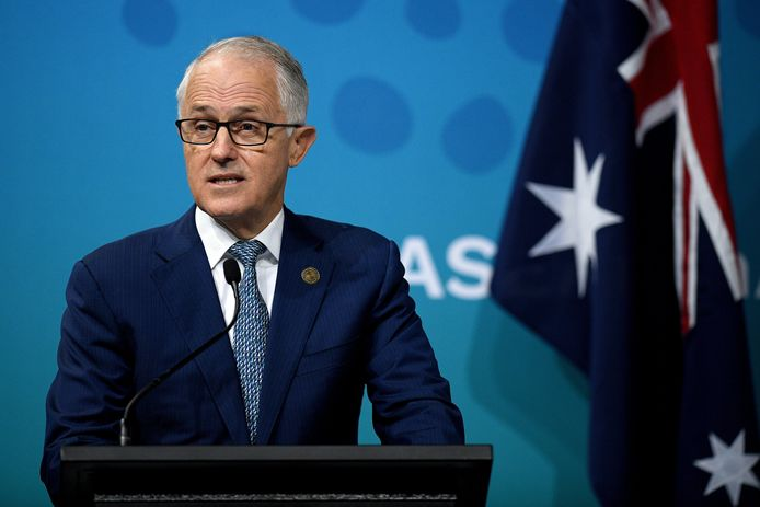 De Australische premier Malcolm Turnbull