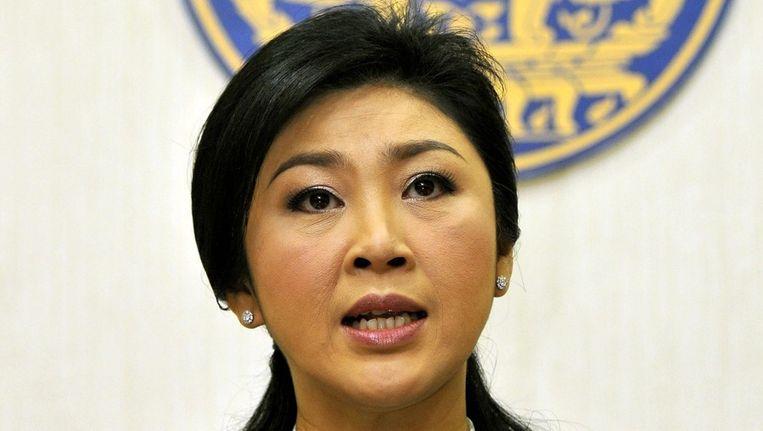 De Thaise premier Yingluck Shinawatra. Beeld epa