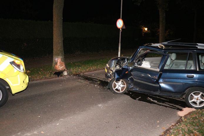 De automobiliste reed zaterdagochtend vroeg tegen een boom langs de Eltensestraat in Duiven.