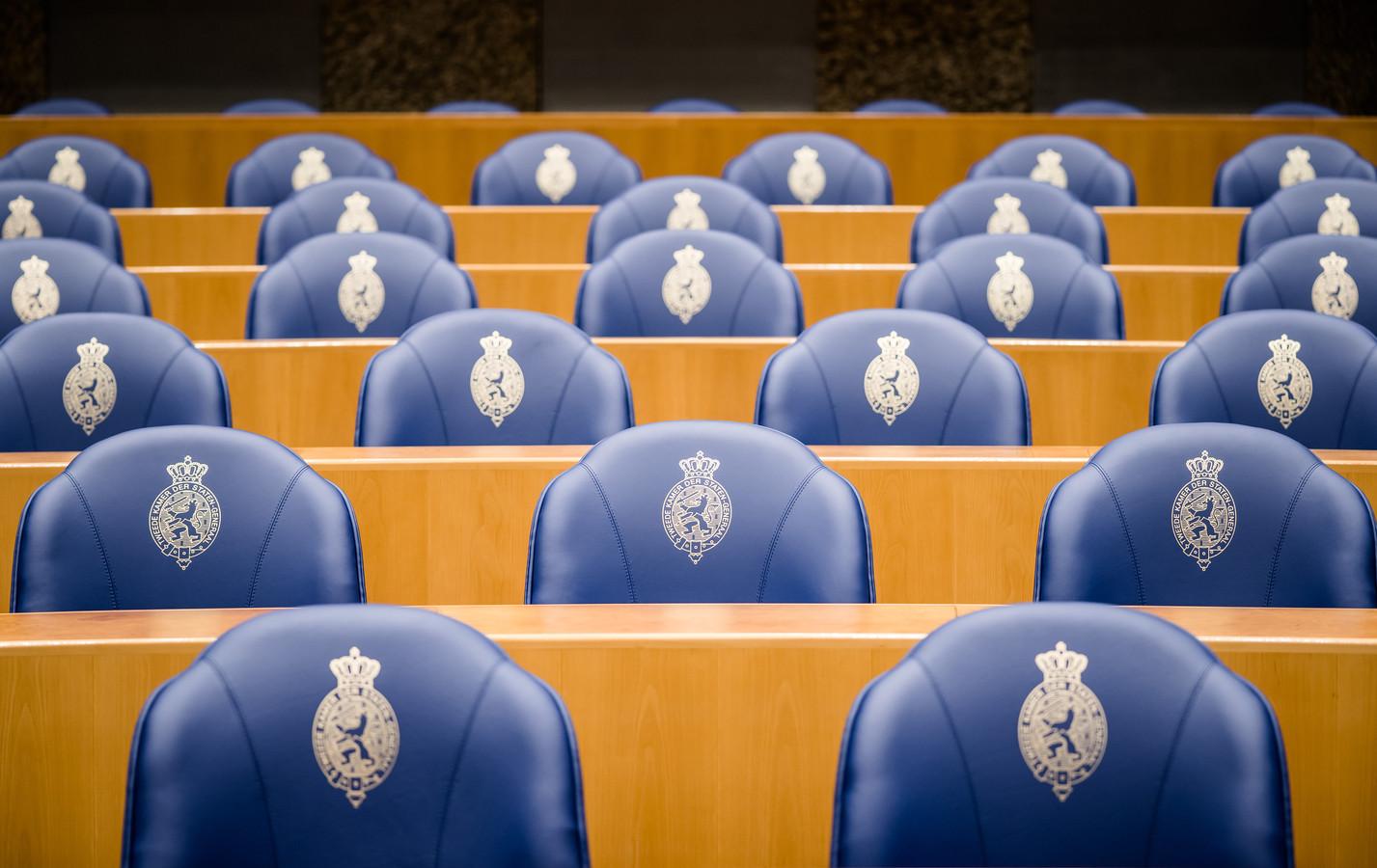 De plenaire zaal in de Tweede Kamer.