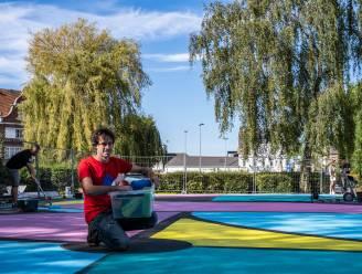 Basketplein wordt hypecourt: week lang schilderwerken om kleurrijk kunstwerk vorm te geven
