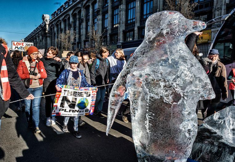 Klimaatmars in Brussel. Beeld Tim Dirven