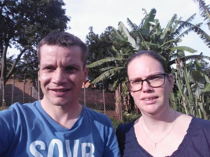 Rik en Caroline in Rwanda.