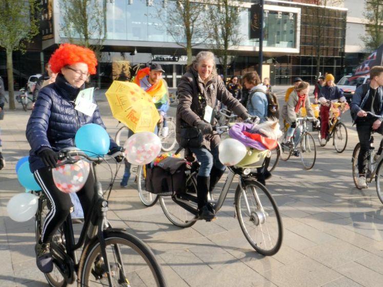 Fietsrave raast door binnenstad Utrecht