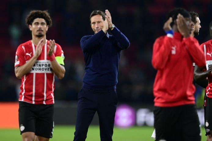 PSV-trainer Roger Schmidt (m)