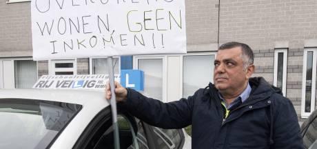 Protest in Enschede: deuk verandert stilaan in total loss voor rijscholen