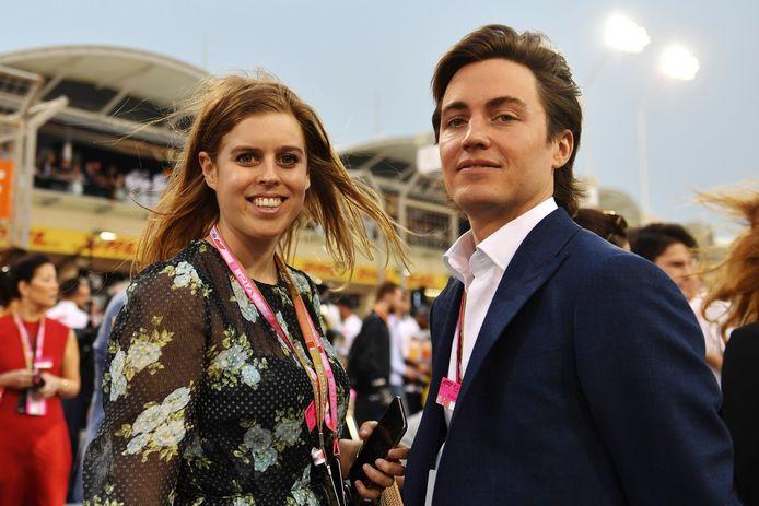 La princesse Beatrice et son mari.