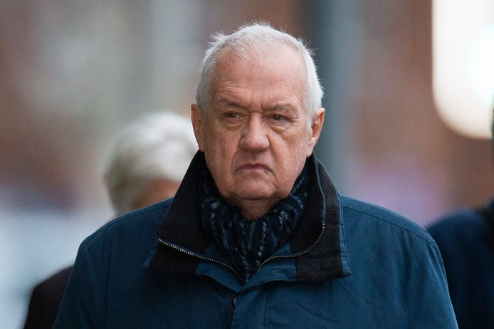 Voormalige politiechef David Duckenfield, bij aankomst aan de rechtbank dit jaar.