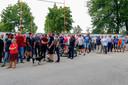Een stil protest tegen de toen nog dreigende sluiting van het Eurocircuit in Valkenswaard, augustus 2019.