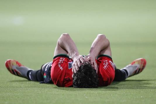 Droevenis bij verdediger Cas Odenthal direct na afloop van het bekerduel met VVV.