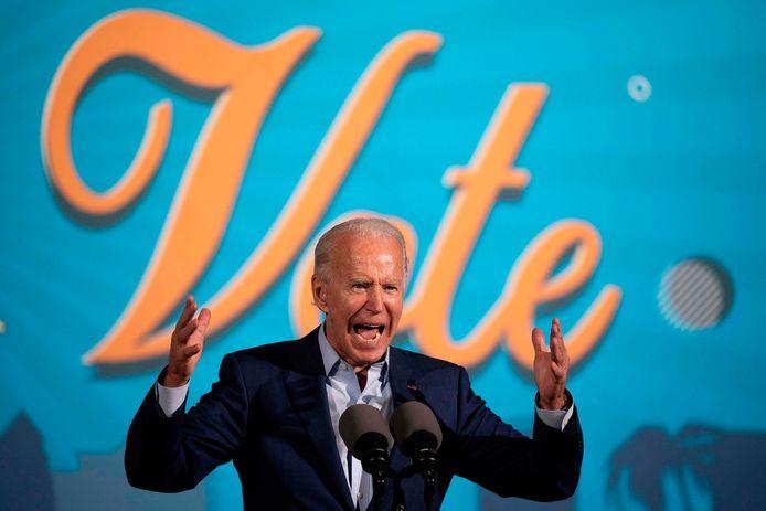 Joe Biden tijdens een verkiezingstoespraak in Florida