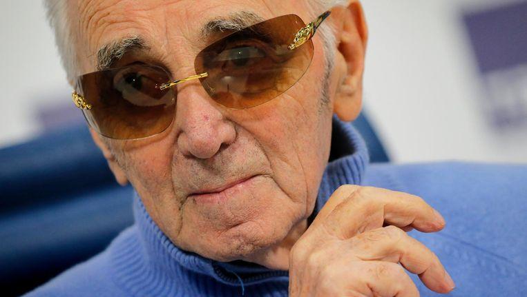 Charles Aznavour zegt dat hij zijn energie te danken heeft aan zijn gezonde levensstijl Beeld ANP