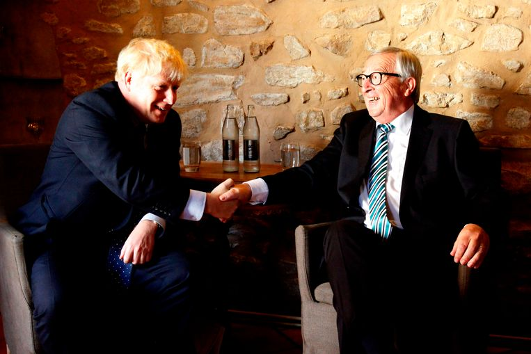 Boris Johnson en Jean-Claude Juncker.