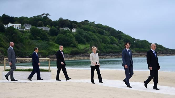 Ochtendloopjes van Johnson en Trudeau voor G7-zittingen