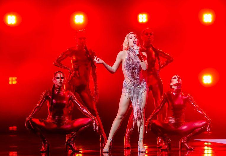 Elena Tsagrinou uit Cyprus bracht het nummer El Diablo. Beeld ANP