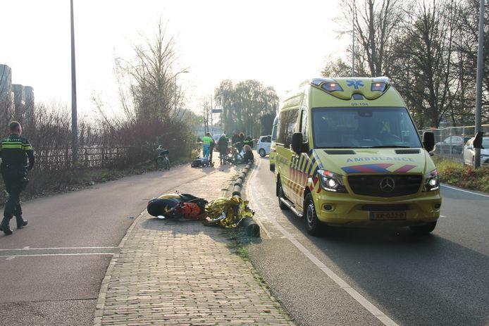Het ongeval aan de Winthontlaan in Utrecht vond woensdagmiddag plaats.