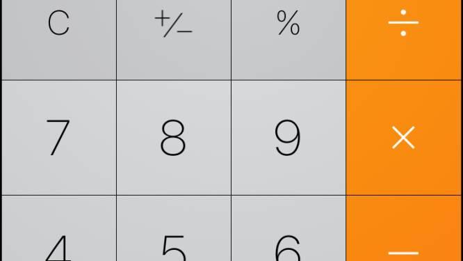 Hadden wij DAT geweten! Zo swipe je cijfers weg in rekenmachine iPhone