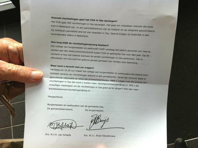 Deel 2 van de brief aan de omwonenden