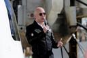 Bezos lui-même à bord du premier vol habité de Blue Origin, ce qui fait de lui l'homme le plus riche de l'espace.