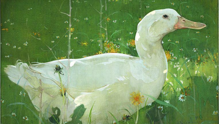 The White Drake van J.Crawhall. Beeld Collectie Scottish National Gallery