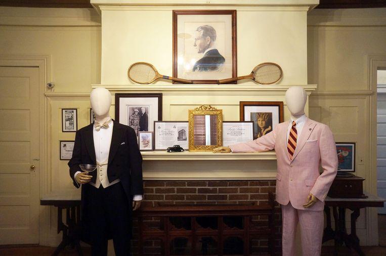 De speciale Gatsby-kamer in het Scott en Zelda Fitzgerald Museum. Beeld rv