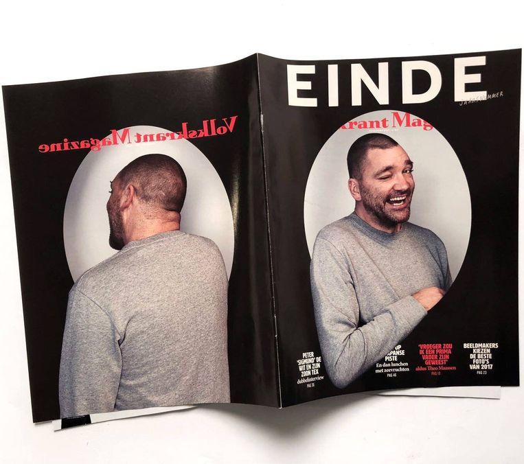 De vetste knipoog van de wereld op de cover van 30 december 2017. Beeld Volkskrant Magazine
