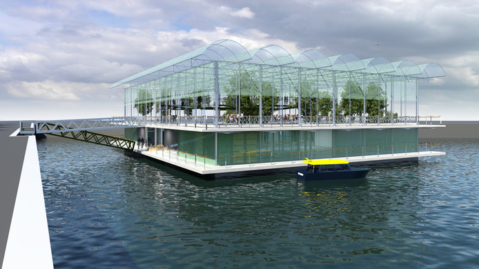 Floating Farm in de Rotterdamse Merwehaven
