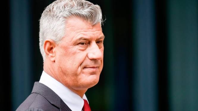 Kosovaarse president Thaçi treedt af na aanklacht oorlogsmisdaden