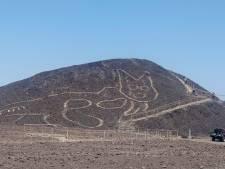 Un immense géoglyphe de chat découvert dans le désert de Nazca, au Pérou