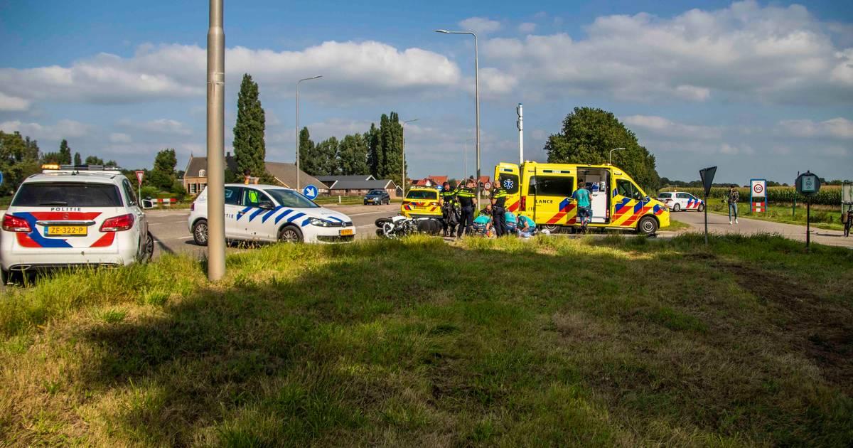 Motorrijder zwaargewond bij ongeluk in Doesburg.