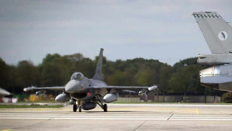 F16's op luchtmachtbasis Volkel. Beeld anp